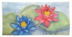 Water   Lillies  Bath Towel by Pamela  Meredith