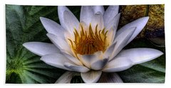 Water Lily Bath Towel by David Patterson