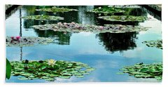 Water Lily Garden Hand Towel by Zafer Gurel