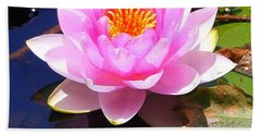 Water Lily In Pink Hand Towel