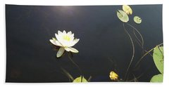 Water Lily Hand Towel by Laurel Best
