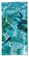 Water Meditation II. Five Elements. Healing With Feng Shui And Color Therapy In Interior Design Hand Towel