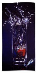 Water Splash Reflection Hand Towel