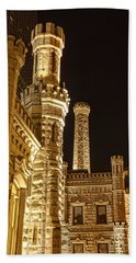 Water Tower At Night Bath Towel
