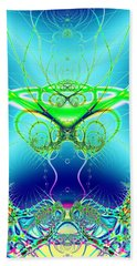 Water World Fractal Bath Towel