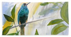 Watercolor - Jacamar In The Rainforest Hand Towel