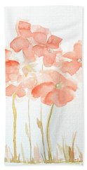 Watercolor Flower Field Bath Towel