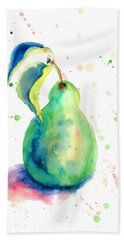 Watercolor Illustration Of Pear  Hand Towel