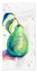 Watercolor Illustration Of Pear  Bath Towel