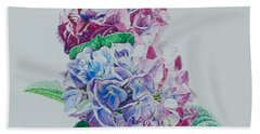 Watercolored Hydrangea Hand Towel