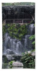 Bath Towel featuring the painting Waterfall by Sergey Lukashin