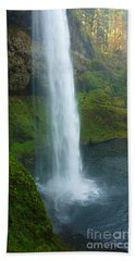 Waterfall View Bath Towel by Susan Garren
