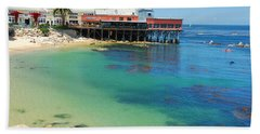 Waterfront At Cannery Row Hand Towel by Jonah  Anderson
