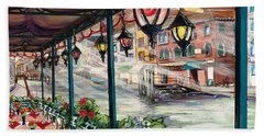 Waterfront Cafe Bath Towel
