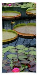 Waterlilies And Platters 2 Bath Towel