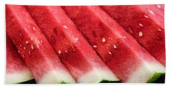 Watermelon Slices Bath Towel by Pat Cook