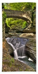 Watkins Glen Waterfalls Bath Towel