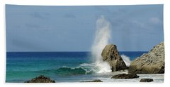 Wave At Boldro Beach Bath Towel by Vivian Christopher