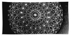 Wave Particle Duality Black White Hand Towel