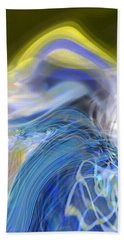 Hand Towel featuring the digital art Wave Theory by Richard Thomas
