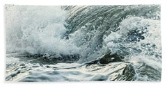 Waves In Stormy Ocean Bath Towel by Elena Elisseeva