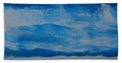 Bath Towel featuring the painting Waves by Linda Bailey