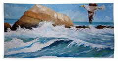 Waves Of The Sea Bath Towel