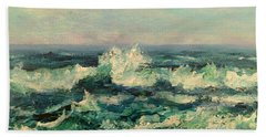 Waves Painting Hand Towel