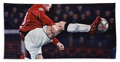 Wayne Rooney Hand Towel by Paul Meijering
