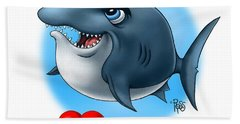 We Love Tourists Shark Hand Towel