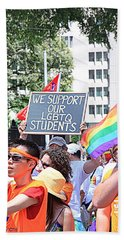 We Support Our Lgbtq Students Hand Towel