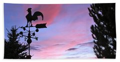 Weather Vane Sunset Hand Towel by Phyllis Kaltenbach