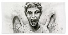 Weeping Angel Watercolor - Don't Blink Bath Towel