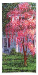Weeping Cherry By The Veranda Hand Towel