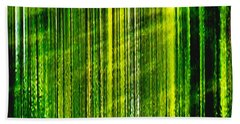 Weeping Willow Tree Ribbons Hand Towel by Carol F Austin