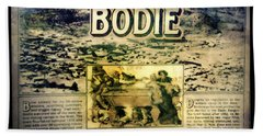 Welcome To Bodie California Hand Towel