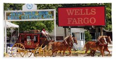 Hand Towel featuring the photograph Wells Fargo At Devon by Alice Gipson