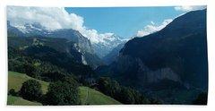 Wengen View Of The Alps Hand Towel