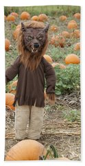 Werewolf In The Pumpkin Patch Hand Towel