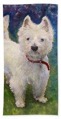 West Highland Terrier Holly Bath Towel