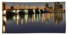 West Palm Beach At Night Hand Towel