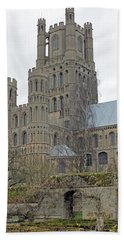 West Tower Of Ely Cathedral  Bath Towel