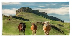 Western Longhorns Bath Towel