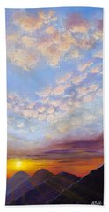 Bath Towel featuring the painting Western Sunset by Margaret Bobb