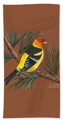 Western Tanager Bath Towel