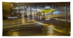 Hand Towel featuring the photograph Wet Pavement by Alex Lapidus