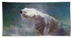 Wet Polar Bear Hand Towel
