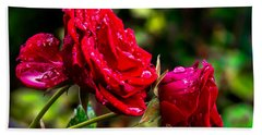 Wet Rose Hand Towel