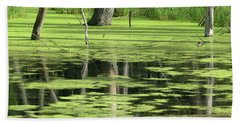 Hand Towel featuring the photograph Wetland Reflection by Ann Horn