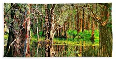 Wetland Reflections Bath Towel by Wallaroo Images